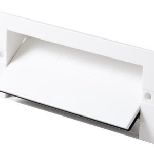 KITVAC, KITCHEN KICKER POINT FOR DUCTED VACUUM SYSTEM WHITE (VACPAN, VACUSWEEP)