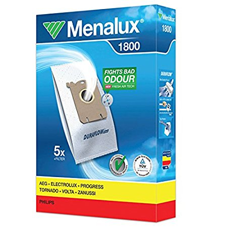 Menalux 1800 Duraflo Dust Bags - Genuine 5 Bags + 1 Filter