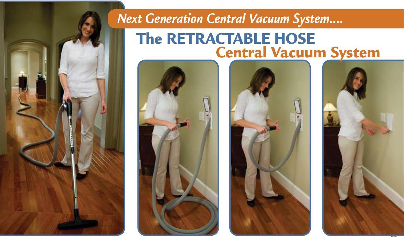Ducted Vacuum System Hide-A-Hose, Retractable Hose DIY Rough-In 2 Point Kit