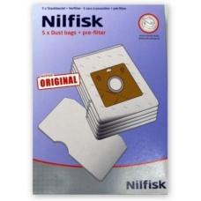 Geniune Nilfisk Bravo Vacuum Cleaner Bags + Filter