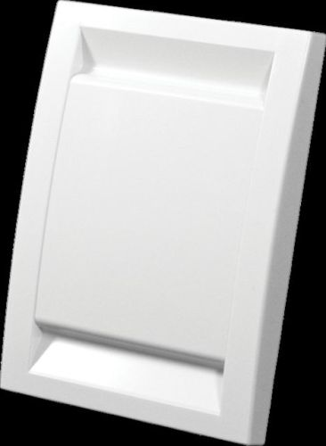 WHITE DECO INLET FOR DUCTED VACUUM SYSTEM WITH BONUS TRIM PLATE