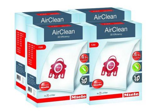4 Boxes of Miele FJM Vacuum Cleaner Bags - Genuine HyClean 3D Efficiency Bags