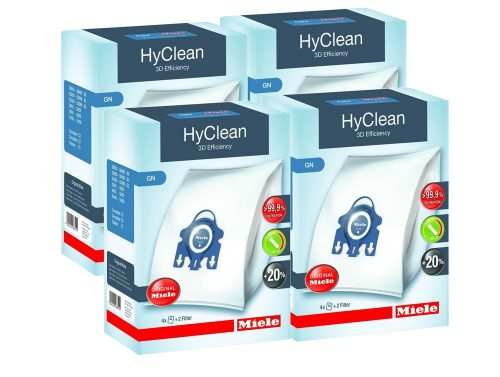 4 Boxes of Miele GN Vacuum Cleaner Bags - Genuine HyClean 3D Efficiency Bags
