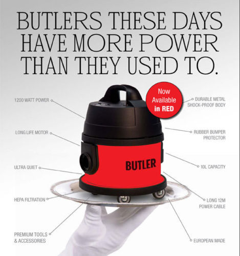 CLEANSTAR RED BUTLER COMMERCIAL VACUUM CLEANER MADE IN EUROPE + BONUS BAGS