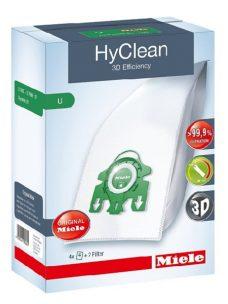 Miele S7 and Dynamic U1 Upright Vacuum Cleaner Bags - Type U Genuine HyClean 3D Efficiency Dust Bags