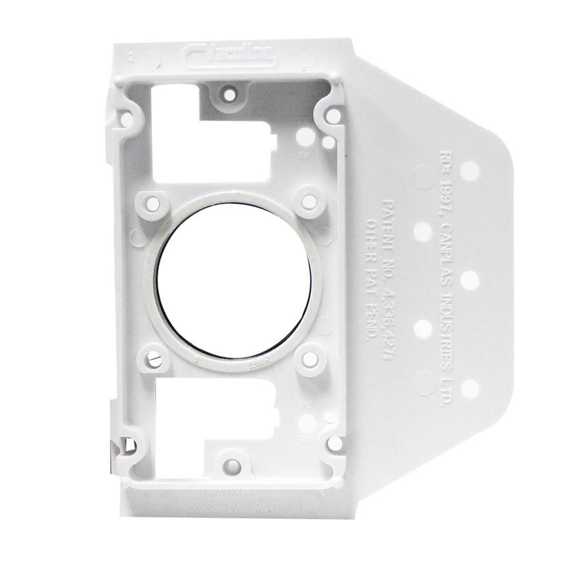 3 X DUCTED VACUUM WALL MOUNTING PLATE WITH FLANGE FOR A DIY